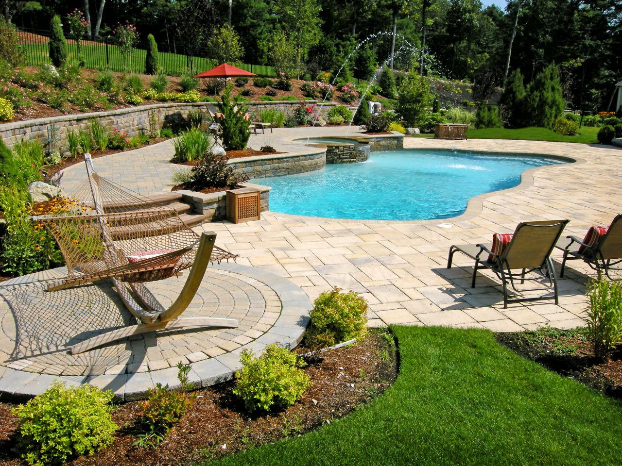 Paver Pool Decking Triad Ociates