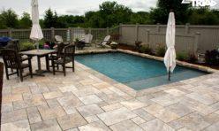 Silver Travertine Pool Patio - Triad Associates