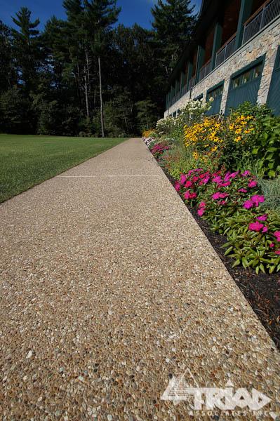 Concrete And Pea Gravel Driveway